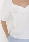 Biała Bluzka Lniana Qhesess