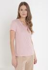 Jasnoróżowy T-shirt Zarinvienne