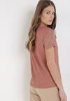 Łososiowy T-shirt Zarinvienne