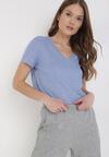 Niebieski T-shirt Zarinvienne