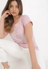 Różowy T-shirt Cayetlin