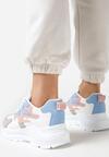 Biało-Niebieskie Sneakersy Arlyse