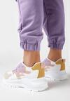 Biało-Lliliowe Sneakersy Arlyse