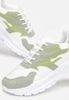 Biało-Miętowe Sneakersy Arlyse