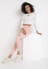 Różowe Spodnie Skinny Lyrei