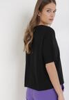 Czarny T-shirt Qiquinal