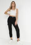 Czarne Spodnie Joggery Vhesysh