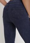 Granatowe Spodnie Skinny Iaoth
