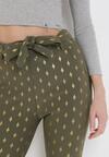 Ciemnozielone Spodnie Skinny Kasdeja