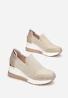 Beżowe Sneakersy Phironis