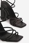 Czarne Sandały Geniviane