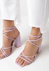 Liliowe Sandały Geniviane
