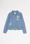Niebiesko-Zielona  Jeansowa Koszula Ilathusa