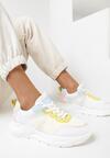 Biało-Żółte Sneakersy Laomellia