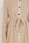 Beżowa Sukienka Aqiarial