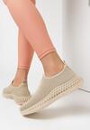 Beżowe Buty Sportowe Thelrahne
