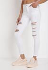 Białe Spodnie Skinny Azaernila