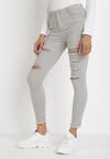 Jasnoszare Spodnie Skinny Azaernila