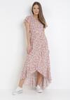 Biało-Różowa Sukienka Mesise