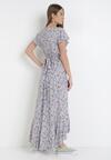 Biało-Fioletowa Sukienka Mesise