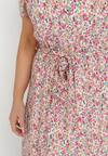 Biało-Różowa Sukienka Alcimoni