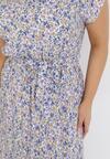 Biało-Niebieska Sukienka Alcimoni