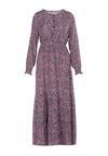 Granatowo-Fioletowa Sukienka Laomia