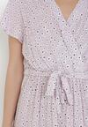 Liliowa Sukienka Hairodia