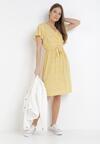 Żółta Sukienka Hairodia