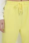 Żółte Spodnie Dresowe Aqeata