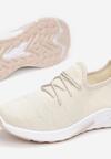 Beżowe Buty Sportowe Calykharei