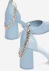 Niebieskie Czółenka Adralea