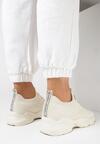 Beżowe Buty Sportowe Liliphis