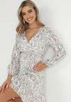 Biała Sukienka Raikea
