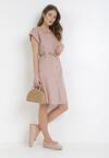 Różowa Sukienka Hyrvia