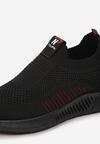 Czarno-Czerwone Buty Sportowe Shenne