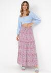 Biało-Różowa Spódnica Pallemei