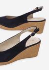 Granatowe Sandały Axiphosia