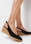 Czarne Sandały Axiphosia