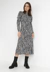 Czarno-Biała Sukienka Genemere