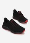 Czarno-Czerwone Buty Sportowe Lisiax