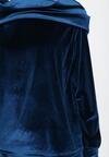 Niebieski 2-Częściowy Komplet Dresowy Zeuxosi