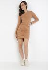Ciemnobeżowa Sukienka Hysiphae