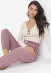 Ciemnofioletowe Spodnie Lithophi