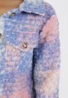 Niebiesko-Różowa Kurtka Z Wełną Theamanea