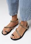 Czarne Sandały Nysiphi