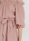 Jasnoróżowa Sukienka Fyserysh