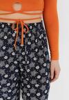 Granatowe Spodnie Delmanella