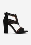 Czarne Sandały Analura