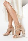 Beżowe Sandały Analura